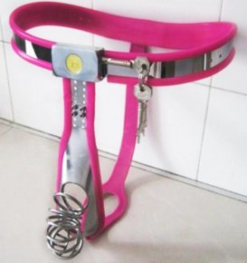 stainless steel male chastity belt Breathability cock cage Arc waist male chastit