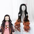 Cosroad Anime Nezuko Kamado Cosplay kimono Demon Slayer Kimetsu no Yaiba Women Japanese Kimono Halloween Costumes Wigs