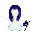 New Arrival Teen Titans Raven cosplay anime Cos Wig Purple Hair Girl's Straight