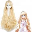 Anime Amagi Brilliant Park Latifah Fururanza Cosplay Curly Long Blonde Wig Women