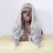 Handmade Fashion Grey White Silver Lace Front Wig for Black Women African Resistant