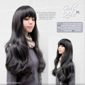 Cute Black Women Long Kanekalon Wavy Party Hair wig (NWG0LO60303-BL2)