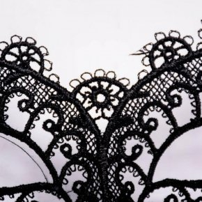 1PCS Hot Sales Black Sexy Lady Lace Mask Cutout Eye Mask For Masquerade Party Fanc