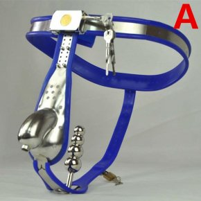 Male Chastity Belt Curve Waist Fully Adjustable Stainless Steel Chastity Belt with