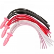 Long Leather Whip Flogger Black Pink Red Leather Spanking Sex Whip Big Silicone