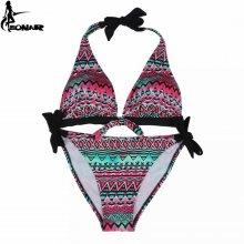 Swimwear Women 2016 Print Floral Swimsuit Push Up Bikini Set Bathing Suits Bra