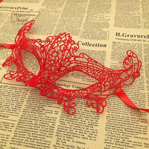 Fox Mask Red lace party Ball mask carnaval sexy mask Masquerade