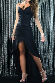 black backless dress for the reception