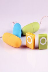 Colorful Portable Wireless Waterproof MP3 Vibrators ,sex toy for