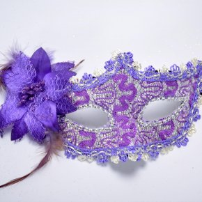 Upper for Party half face Mask Masquerade Hallowmas Venetian Masks Sexy Women Flower