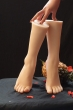 New Sexy Female Real Silicone Legs Sex Torsos Dolls Foot Fetish Toys Feet Whitening