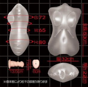 Female Body Mold Transparent Inflatable Pillow Doll