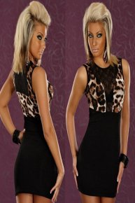 leopard grain does not have sleeve skirt