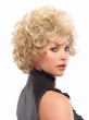 High quality short blonde wig with bangs, afro kinky curly wig for black women