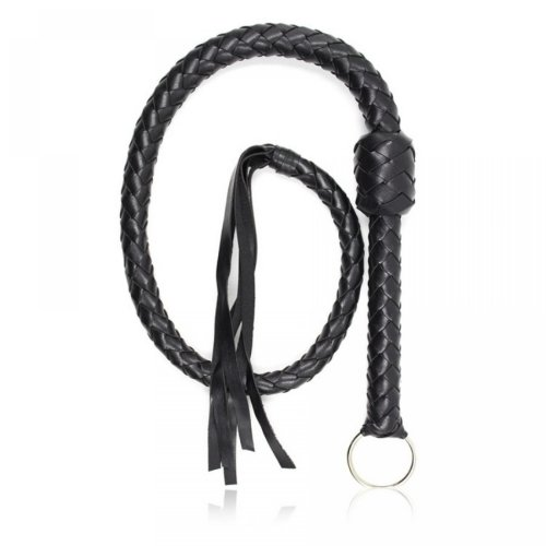 Black 1.16M Length pu Leather Whip Fetish Bondage Sexy Whips Erotic Sex Products