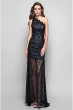 black sexy prom gown