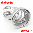 2017 Latest Design Anti off version Steel chastity belt stainless steel penis lock