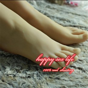 New Sexy male Real japanese masturbation full silicone life size fake feet foot