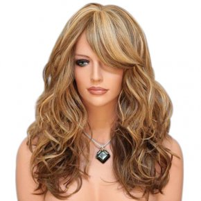 Layered Capless Wavy Blonde Long Wigs