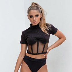 Black Jersey Camisole Set