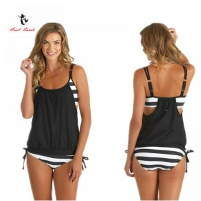 Ariel Sarah Brand 2017 Swimsuit Sexy Bikini Set Plus Size Swimwear Women Black Bathi