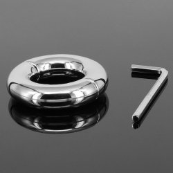 202G Round Stainless Steel Scrotum Ring Chastity Belt Penis Rings Cock Ring Ball
