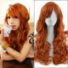 60cm Orange Long Kinky Curly Anime One Piece Nami Cosplay Harajuku Women\'s Wigs