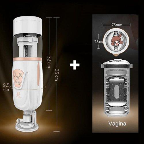 Easy Love Male Masturbator Air float Sucking Vibrator Retractable Sex Product For