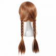 FR0ZEN Long Braided 70CM Synthetic Wig Resistant Brown Ponytail Weave Head Hair