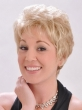 Light Blonde Wigs For Older Women Fashion Puffy Synthetic Natural Looking African