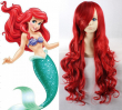 High Quality Thick The Little Mermaid Princess Ariel Wig Cosplay Full-bodied Synthet