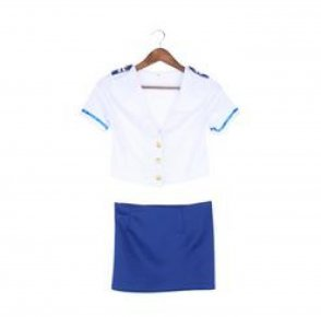 Sexy Lingerie cosplay Air Hostess Airline Stewardess uniform set sexy costume bab