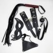 5pcs/set AAA Sexy pu Leatehr Body Barness Bondage Kit, Handcuffs Mouth Gag Whip