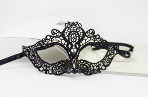 100 pieces/lot Luxury Venetian Black/Beige sexy lace Masquerade Mask Party Mask