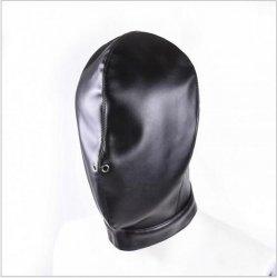Soft PU Leather Hood Mask Hood Bondage Blindfold Sexy mask For Couples BDSM Adult