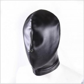 Soft PU Leather Hood Mask Hood Bondage Blindfold Sexy mask For Couples BDSM Adult