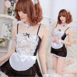 Lady Sexy Exotic Lingerie Hot Lace Set Cosplay Uniform Sleepwear Underwear Women