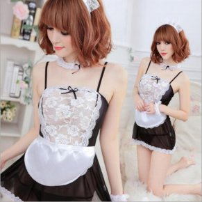 Lady Sexy Exotic Lingerie Hot Lace Set Cosplay Uniform Sleepwear Underwear Women