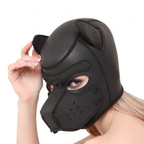 Adult Games Couples SM Flirting Games Toys For Erotic Hoods Sexy Dog BDSM Bondage Puppy Play Hoods Slave Rubber Pup Mask Fetish