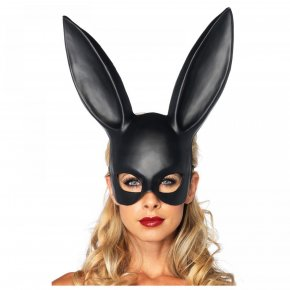 Fashion PVC Women Girl Party Cosplay Rabbit Ears Mask Sexy Long Ears Carnival Mask