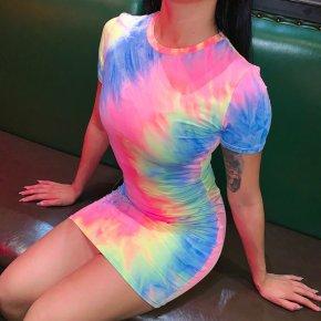 Multi colors Tie Dye Chemise