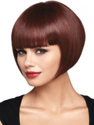 Short Straight Hair Flapper Cosplay Costume Bob Wig
