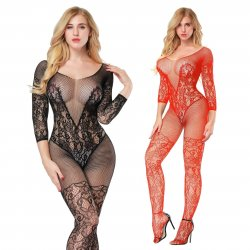 Lace and Fishnet Bodystocking