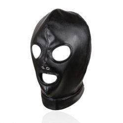 Mask Sexy Bondage Leather Hood BDSM Erotic Adult Games Fetish Sex Toy Restraint brinquedos sexuais harness juguete