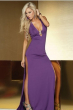 purple noble women dress