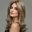 Flexibility Wavy Shoulder Length Remy Human Lace Wigs