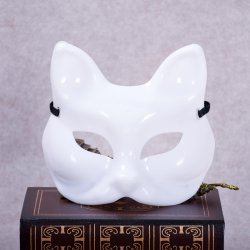 High Quality Fox Half Face Plastic Mask Soild White Color Women's Sexy Masks Cospla