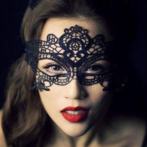 5 pcs/Lot Women Party Masks Lace Face Eye Black Mask Hollow Venetian Carnival Hallow