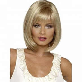 HAIRJOY Top Grade Synthetic Middle Long Straight Bob Hairstyle Wig for Women