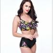 2017 Plus Size Print Women High Waist Bikini Set Brazilian Big Chest Push Up Sex